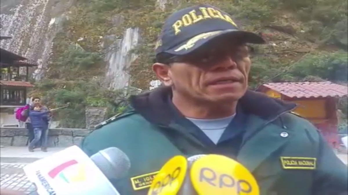 General Máx Iglesias, jefe de la Macro Región policial Cusco - Apurímac.