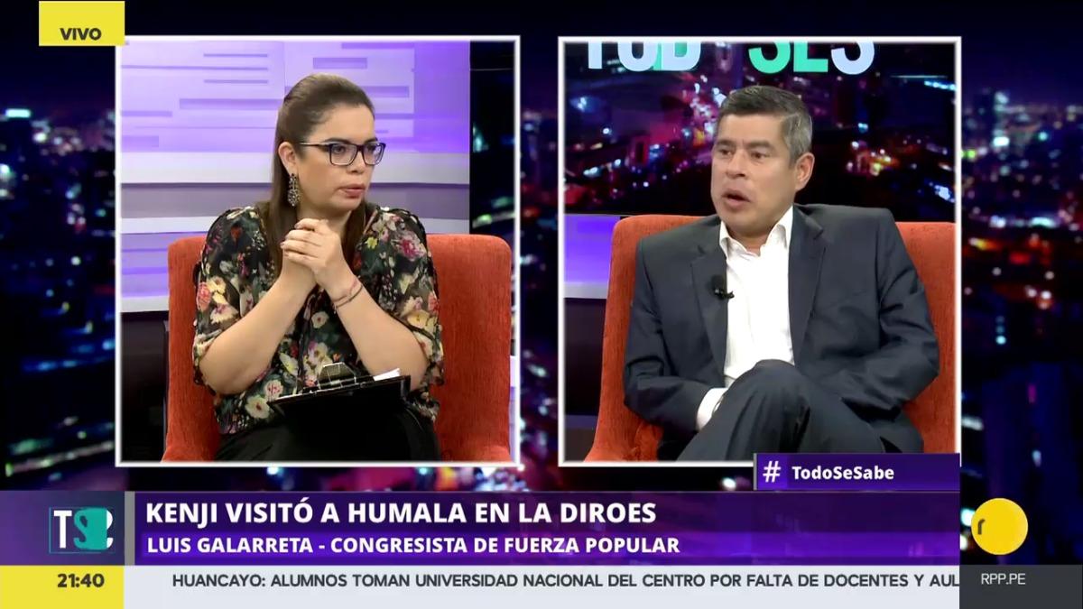Luis Galarreta cuestionó duramente al escritor  Mario Vargas Llosa.