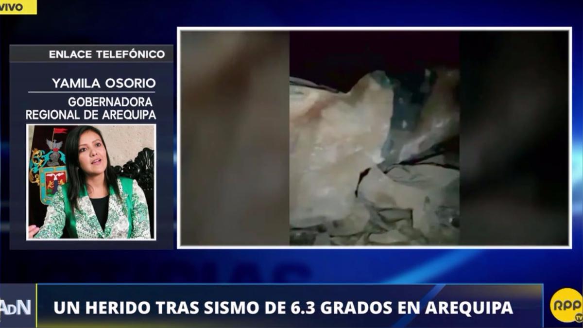 El sismo en Arequipa dejó una persona herida.