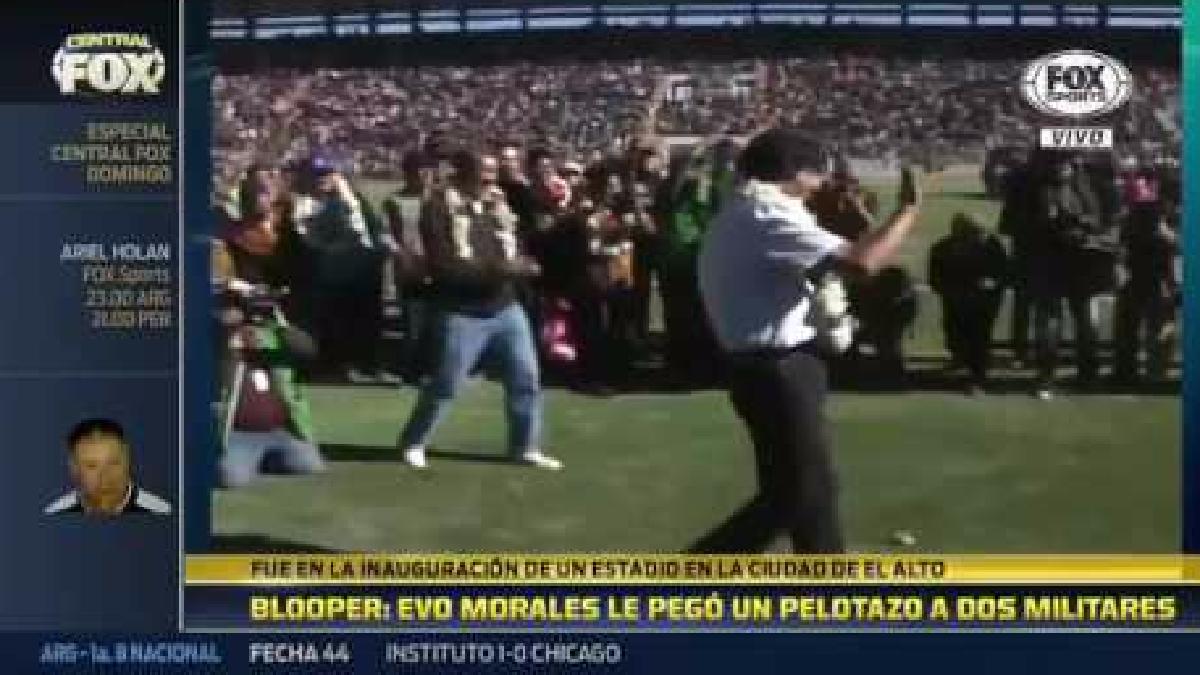 Evo Morales participó en un acto protocolar.