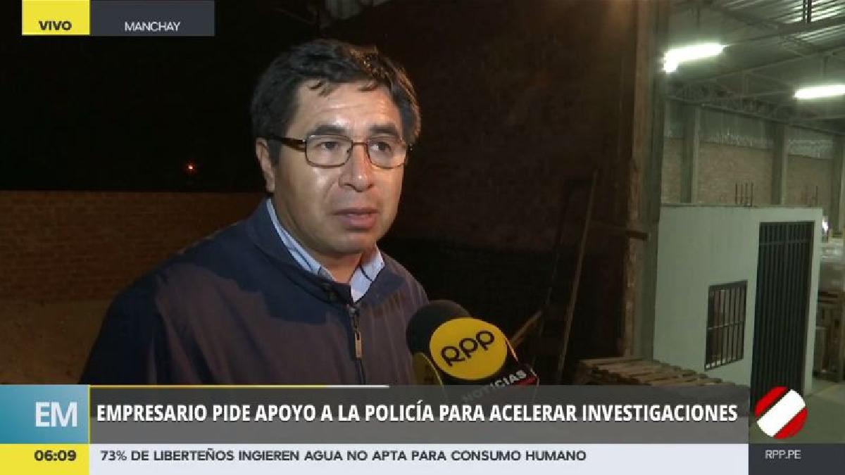El empresario Saúl Silva Chávez cuestionó que a casi un mes del robo no tenga noticias sobre el avance de las investigaciones.