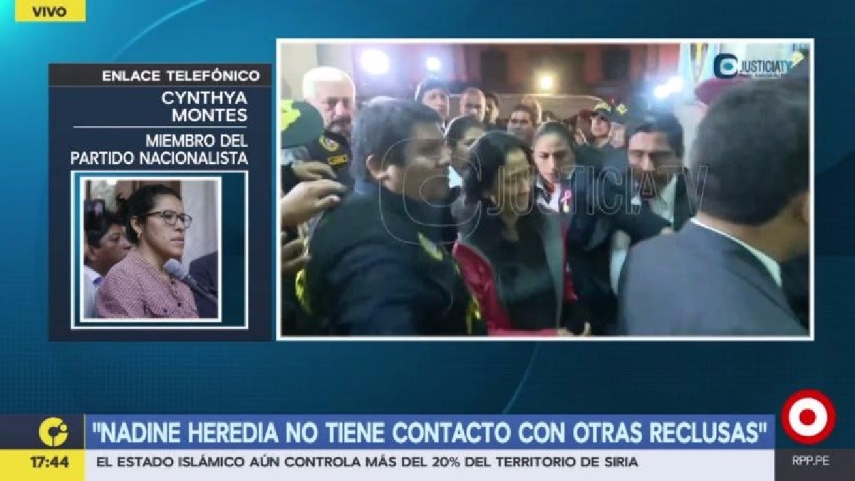 La exjefa de prensa de Palacio de Gobierno fue a visitar a Nadine Heredia en el penal de Chorrillos.
