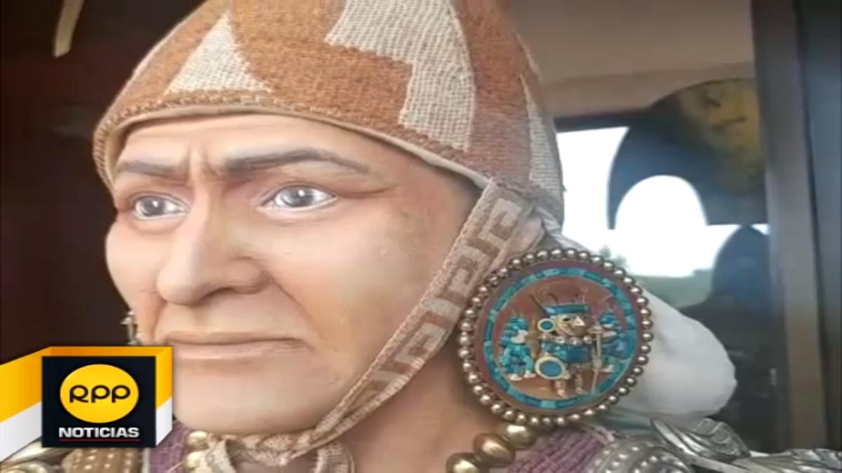 Este sería el rostro del antiguo monarca mochica, el Señor de Sipán de Lambayeque.