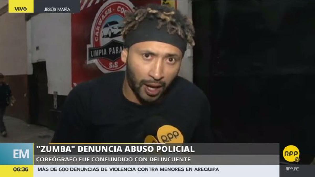 'Zumba' denunció que los policías vestidos de civil que lo intervinieron nunca se identificaron y le pidieron sus documentos sin esgrimir una razón.