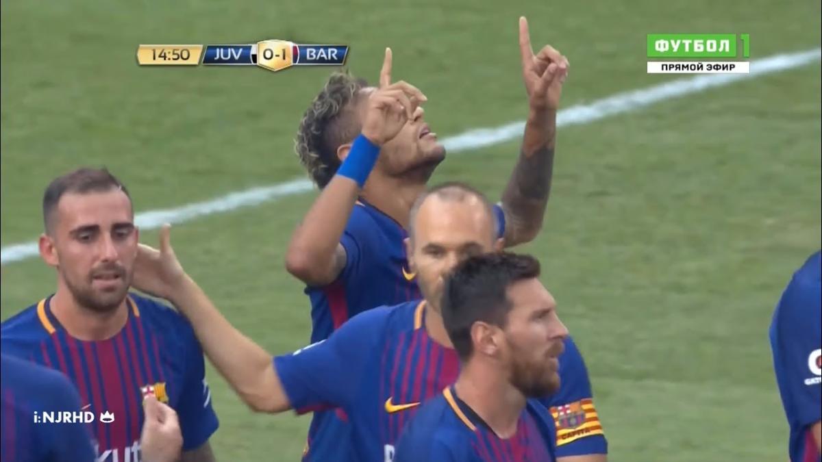 Revisa los dos goles que Neymar marcó en el primer tiempo contra la Juventus.