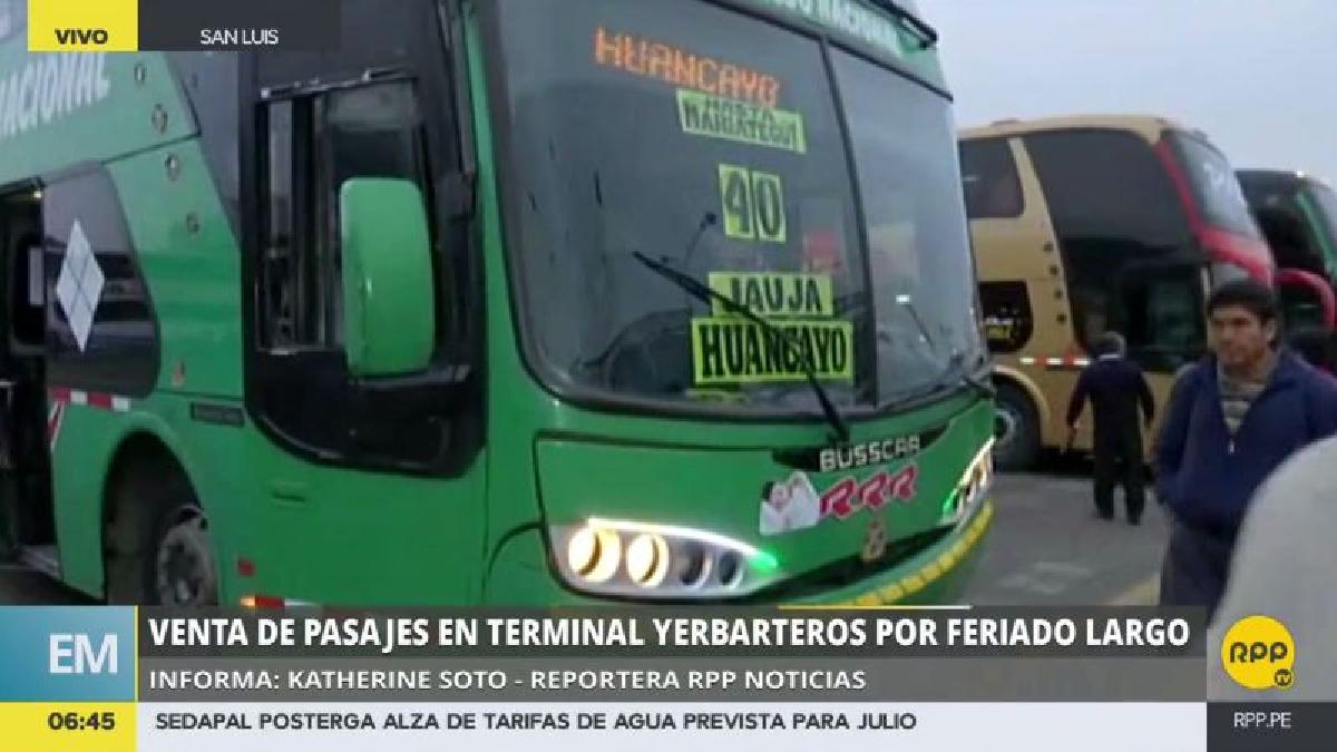 Los pasajes a Huancayo, que normalmente cuestan 20 soles, ahora se venden a 40, y se estima que llegarán a ofertarse en S/80.