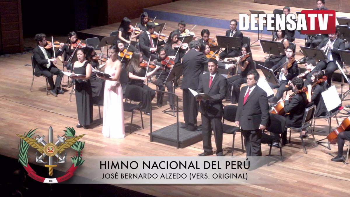 Himno nacional del Perú, versión de José Bernardo  Alzedo.