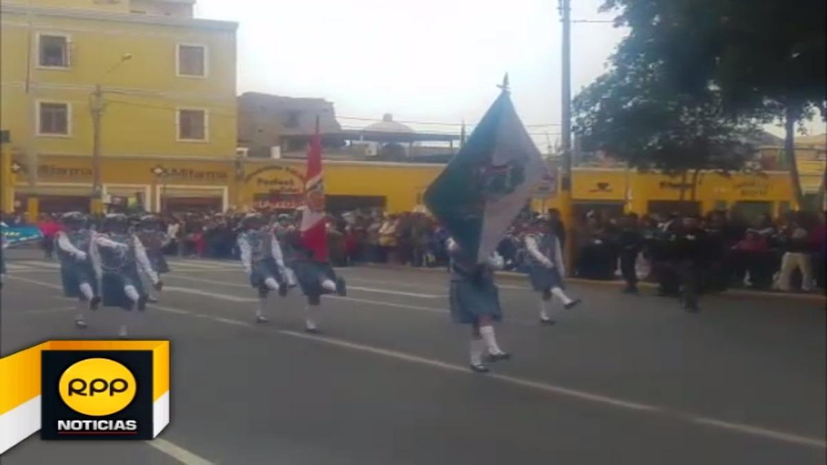Colegios de la región participaron de evento con motivo de las Fiestas Patrias.