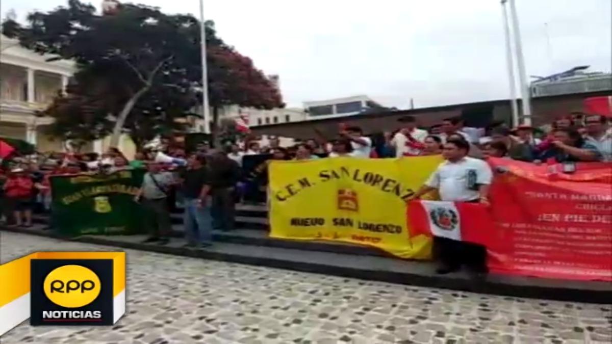 Una facción de docentes afiliados al Sutep cumple siete días en huelga.