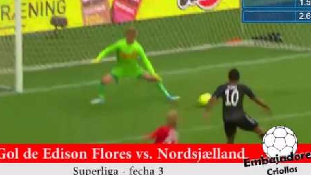 Revive el gol de Edison Flores con el Aalborg BK.