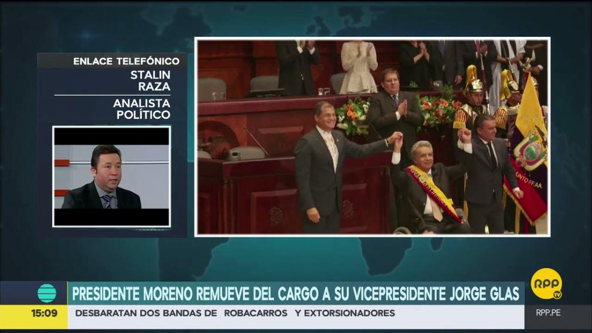 El analista ecuatoriano Stalin Raza conversó con RPP Noticias sobre la situación política de su país