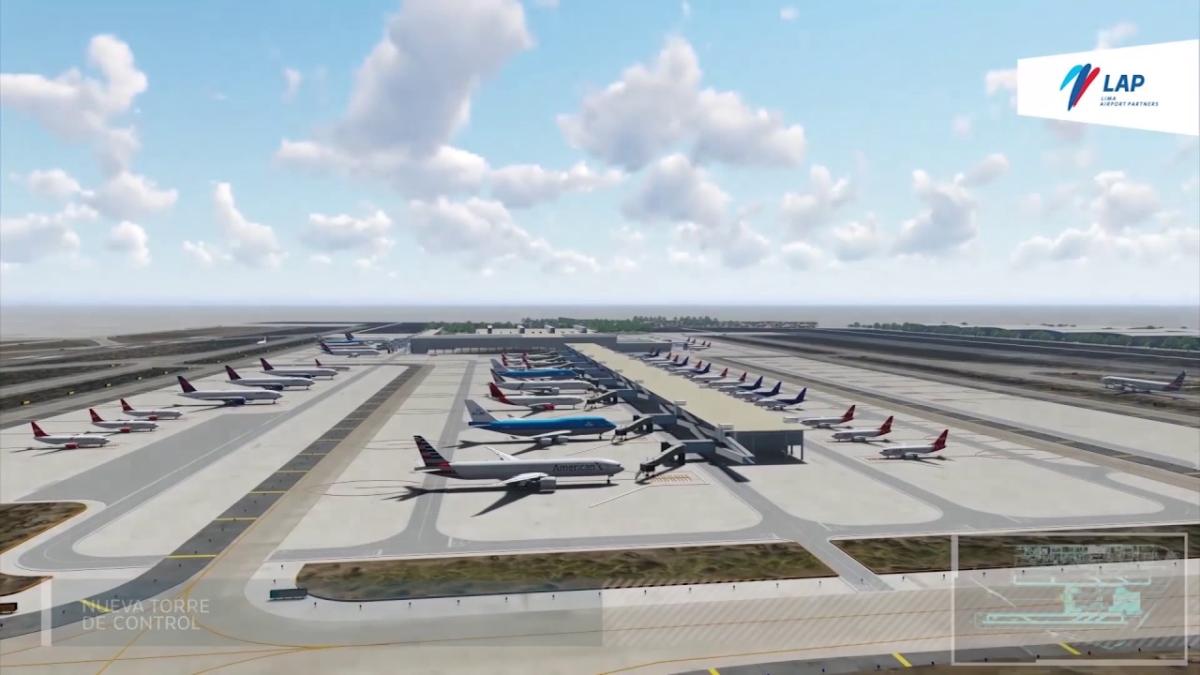 Así lucirá el nuevo Aeropuerto Jorge Chávez en el 2022.