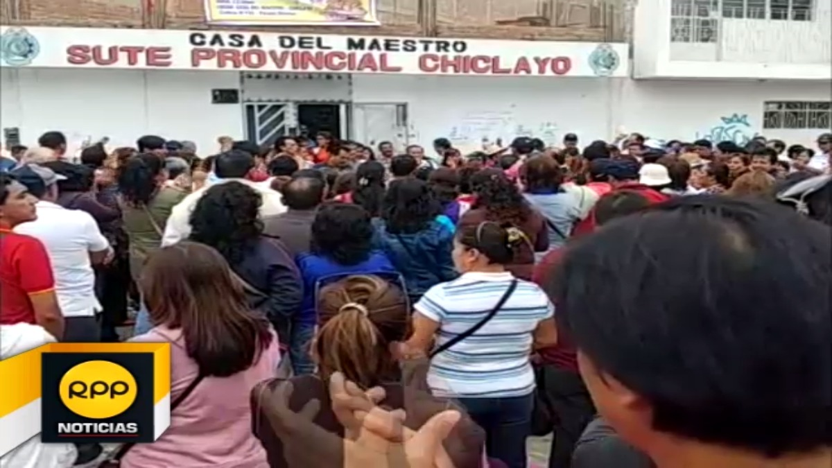Profesores en Lambayeque no levantarán medida de lucha