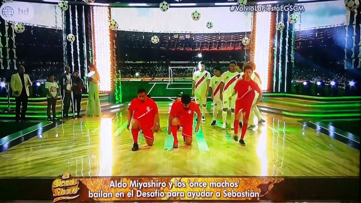 Aldo Miyashiro y elenco de 'Once Machos' bailaron en El Gran Show.