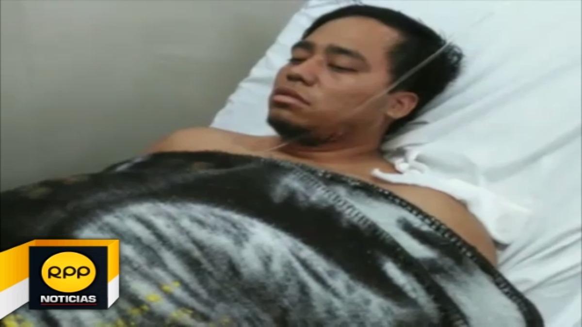 El corte que se provocó el hombre en el cuello, no fue tan profundo y ya se encuentra fuera de peligro.