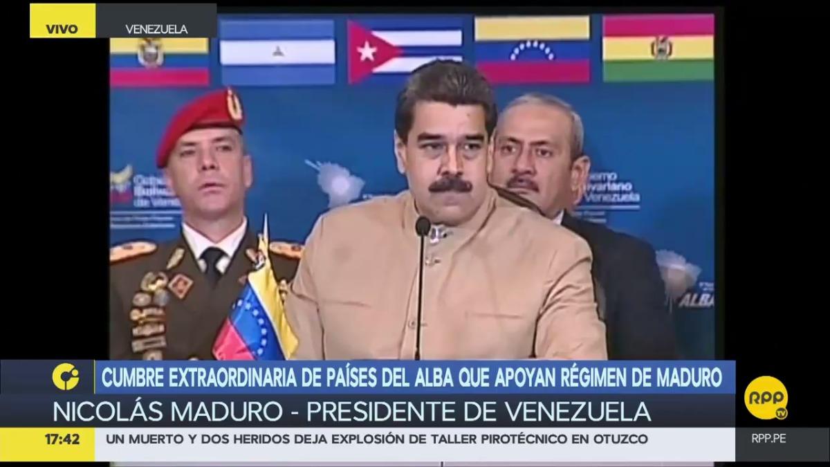 El presidente nuevamente denunció la intromisión de Estados Unidos en la región y les acusó de chantajistas.