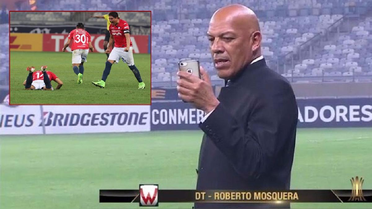 Roberto Mosquera eliminó al Atlético Mineiro y sigue con vida en la Copa Libertadores.