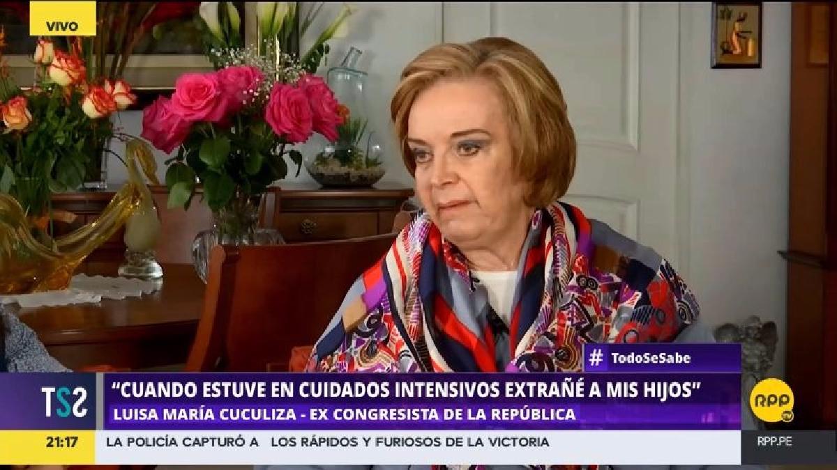 Luisa María Cuculiza contó que cuando estuvo internada fue visitada por Keiko y Kenji Fujimori.