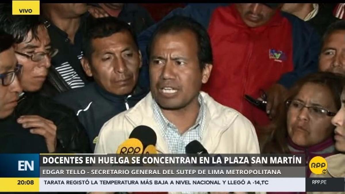 El representante del Sutep afirmó que el gobierno no ha resuelto la totalidad de sus reclamos y que no pueden pretender acordar con solo una región para terminar la huelga.