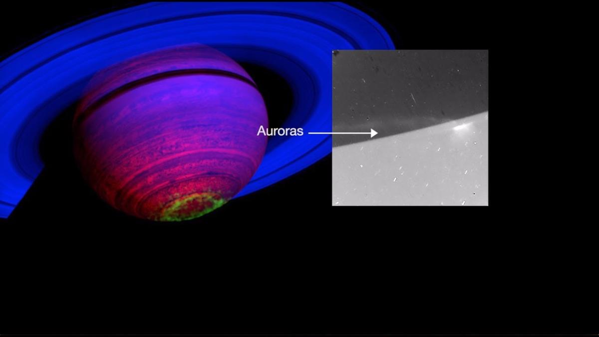 Auroras en Saturno, estudiadas por la sonda