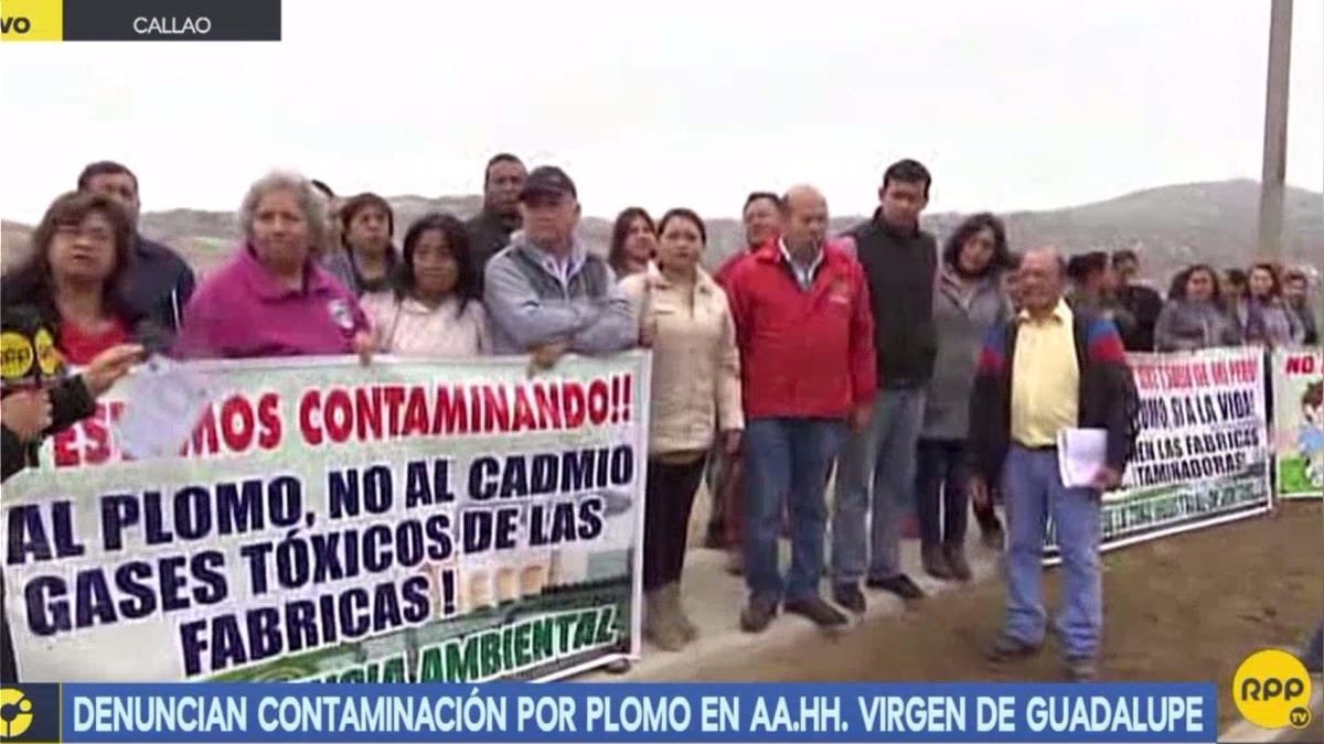 Denuncian contaminación por plomo en AA.HH. Virgen de Guadalupe