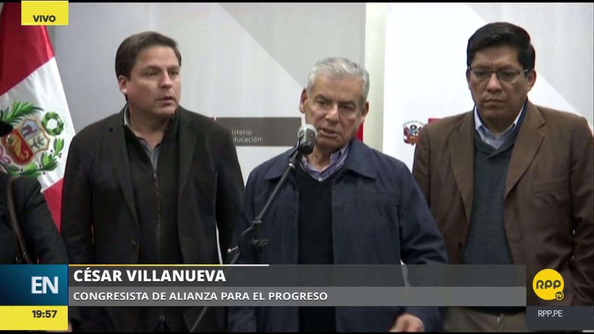 El congresista César Villanueva dio alcances sobre esta huelga.