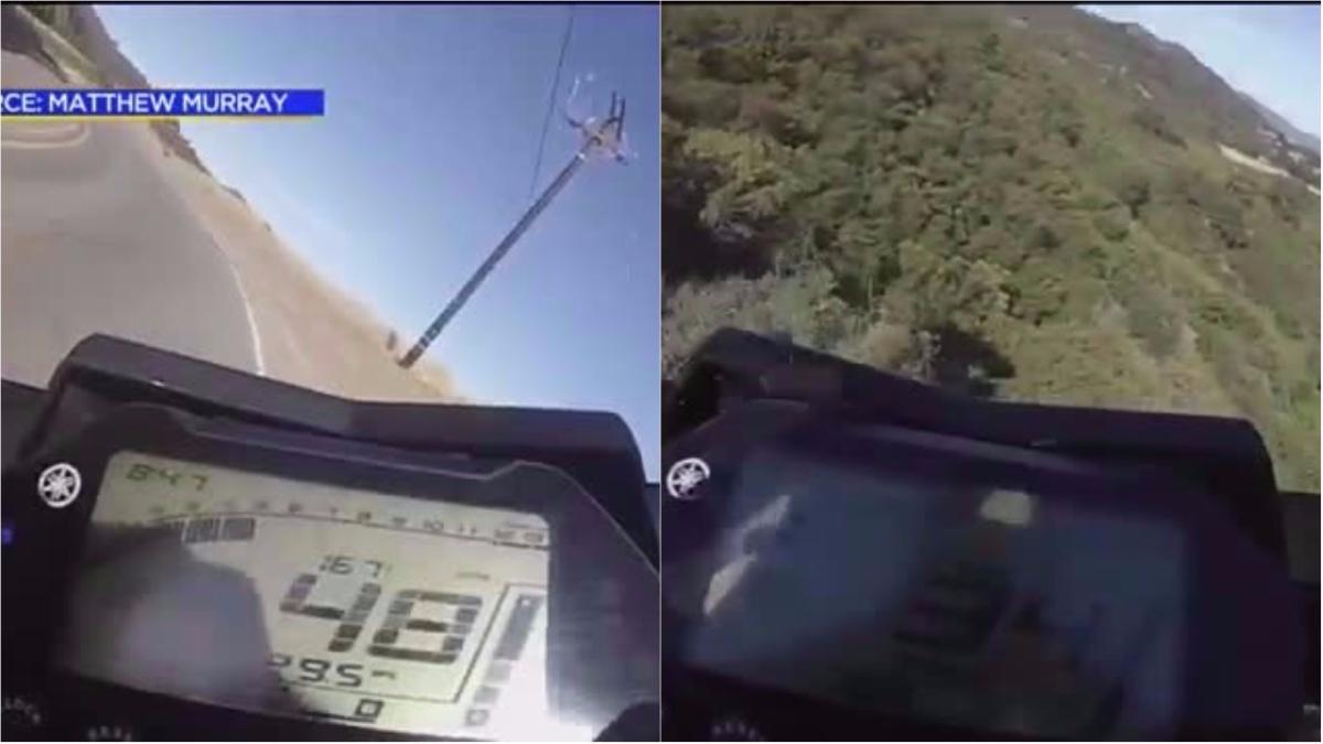 Mathew Murray grabó su caída con una cámara GoPro.