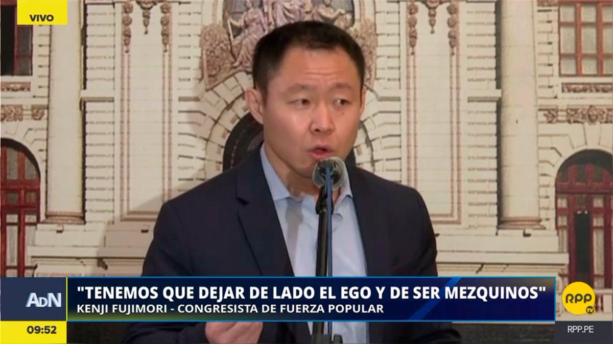 La conferencia de Kenji Fujimori sobre la huelga de maestros.