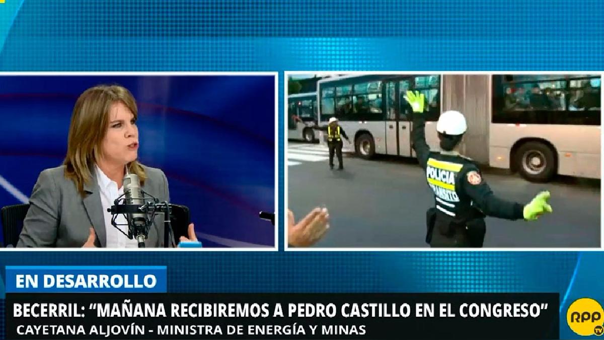 La ministra Cayetana Aljovín aseguró que la mayoría de docentes quieren volver a las aulas.