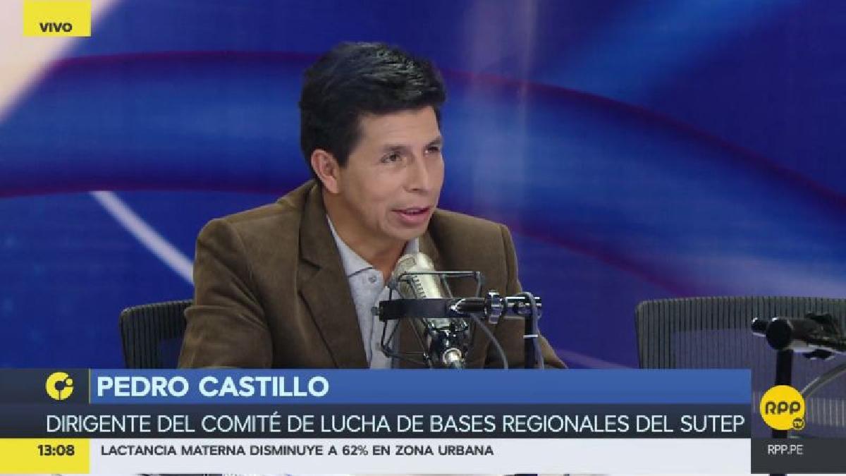 """Pedro Castillo puso un símil con su labor como profesor y aseguró que cuando los alumnos no rinden """"no los echamos a su casa""""."""