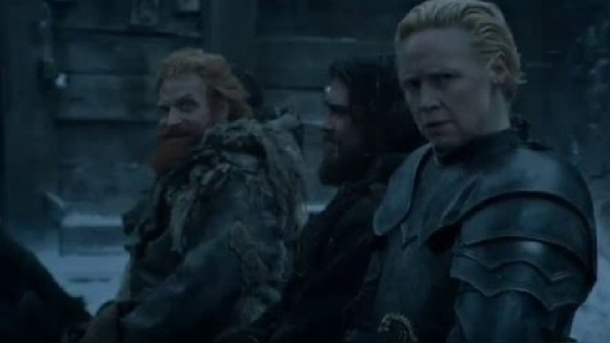 Brienne the Tarth y Tormund Matagigantes comparten tres escenas en el capítulo 5 de la sexta temporada de la serie Game of Thrones.