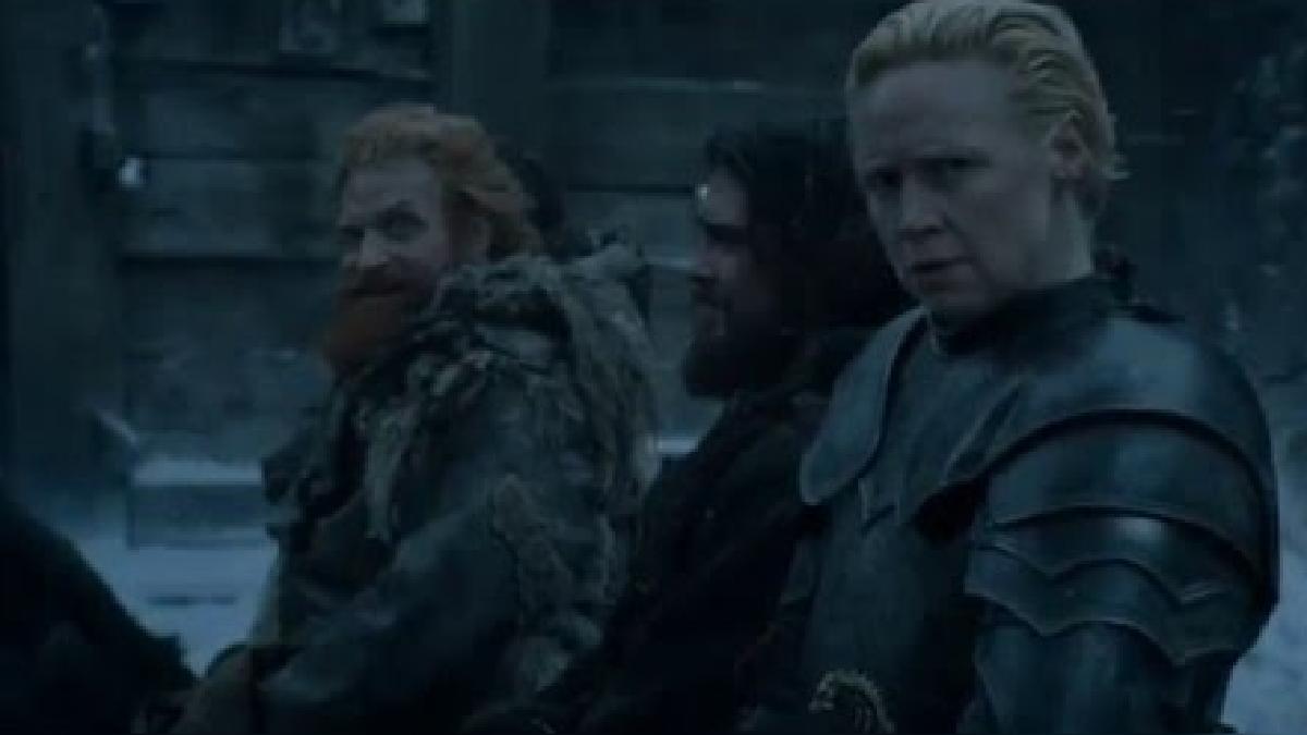 Brienne the Tarth y Tormund Matagigantes comparten tres escenas en el capítulo 5 de la sexta temporada de la serie Game of Thrones.