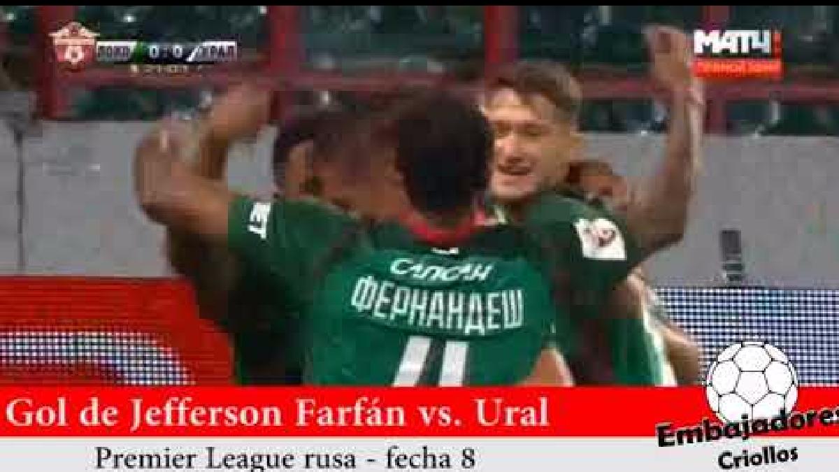 Revive el tanto de Jefferson Farfán con Lokomotiv.