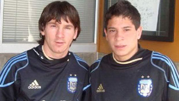 Iturbe con Messi cuando jugaba en las selecciones juveniles de Argentina.