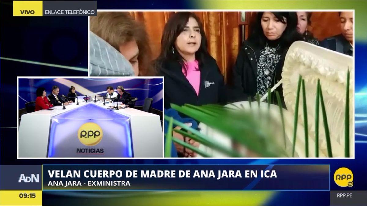 Ana Jara volvió a Ica, donde su madre es velada.