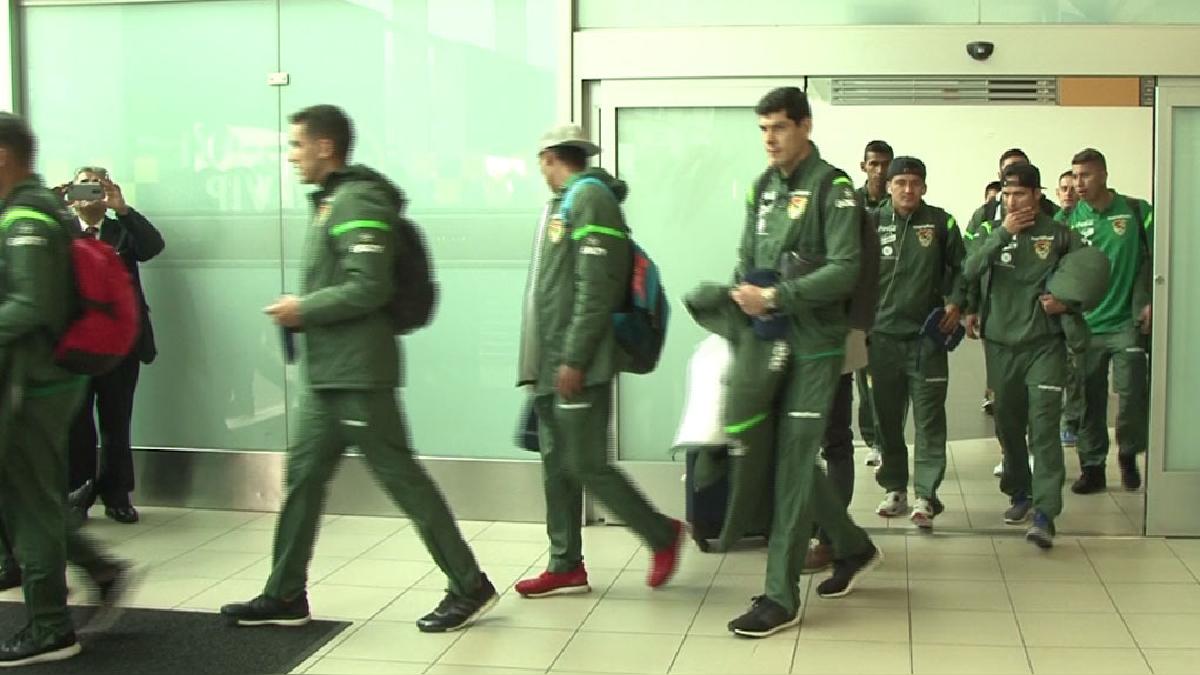 El equipo boliviano llegó a nuestro país este miércoles por la mañana.