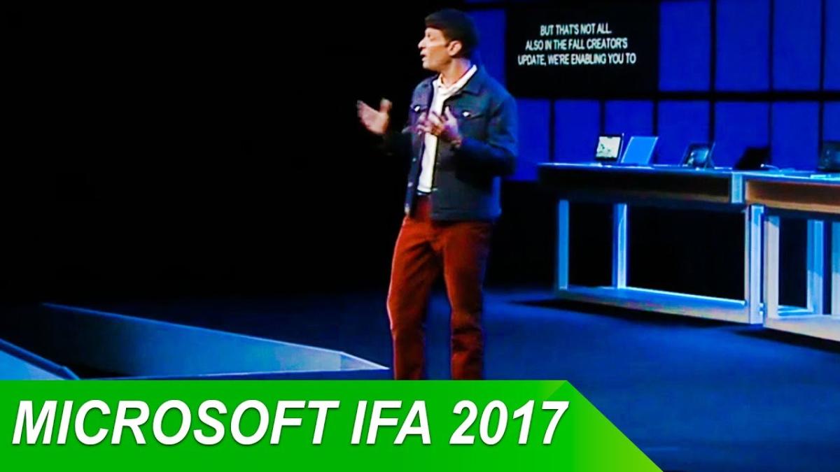 El vicepresidente ejecutivo de Microsoft, Terry Myerson, anunció la cuarta actualización en la IFA de Berlín.