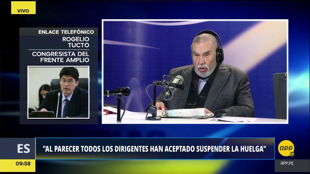 Rogelio Tucto hizo el anuncio en diálogo telefónico con 'Ampliación de Noticias'.