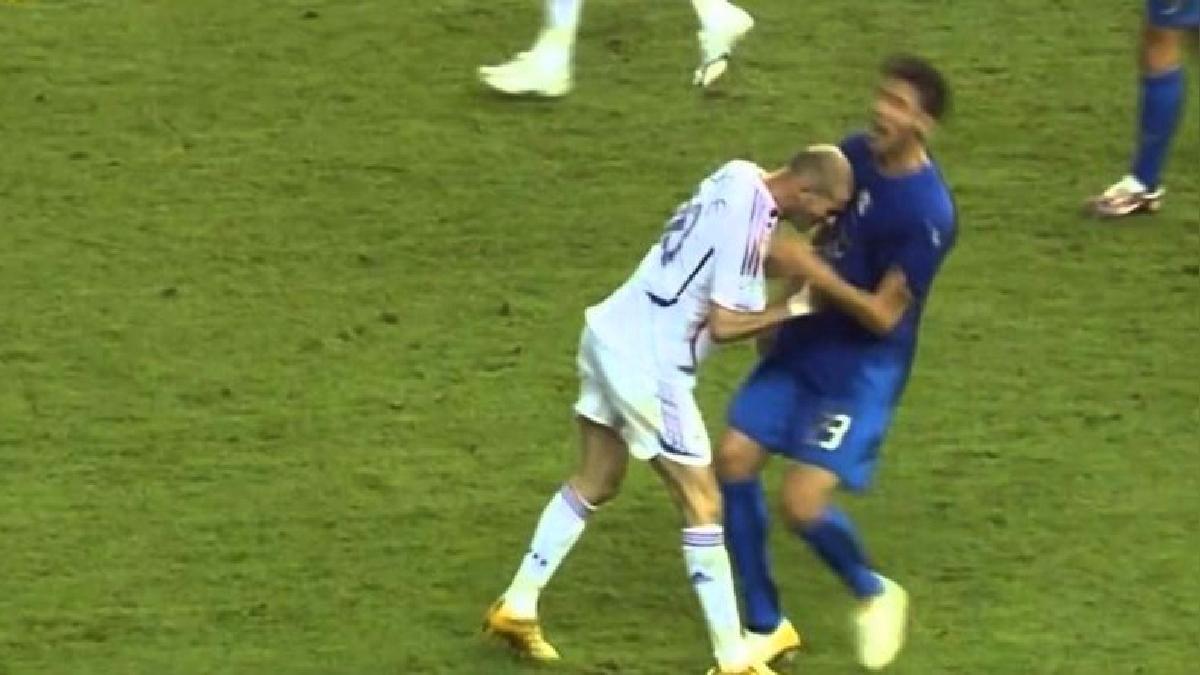Revive el cabezazo de Zinedine Zidane a Marco Materazzi en el 2006.