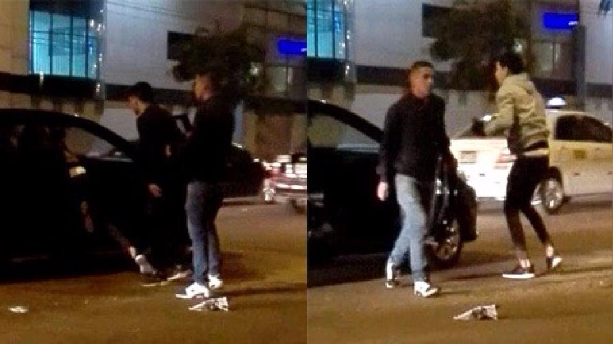 Vídeo muestra preciso momento en el que los tres sujetos asaltan a taxista