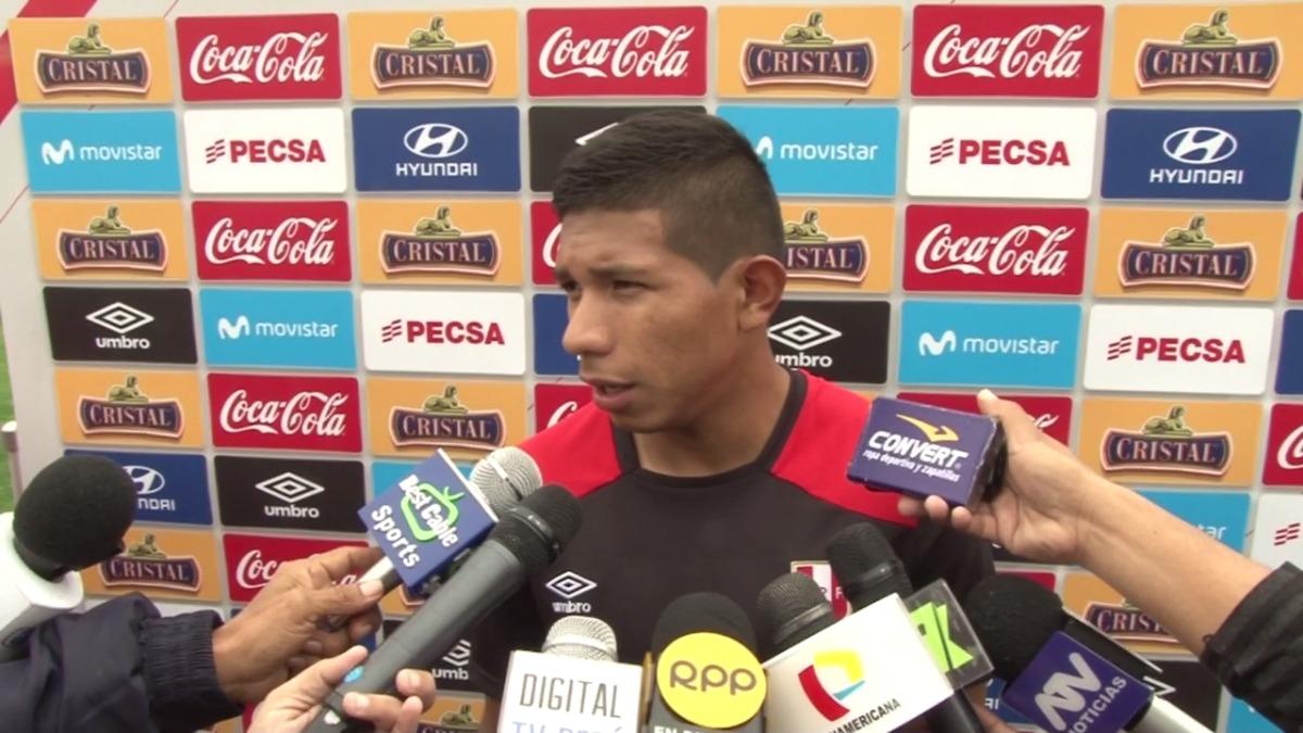 Edison Flores también sería titular en el once de Perú contra Ecuador.