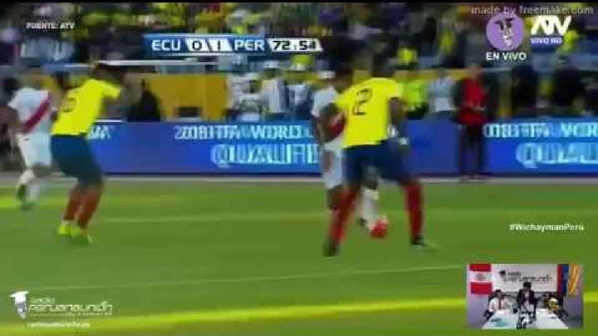 Perú le ganó 2-1 a Ecuador en Quito por primera vez en la historia.