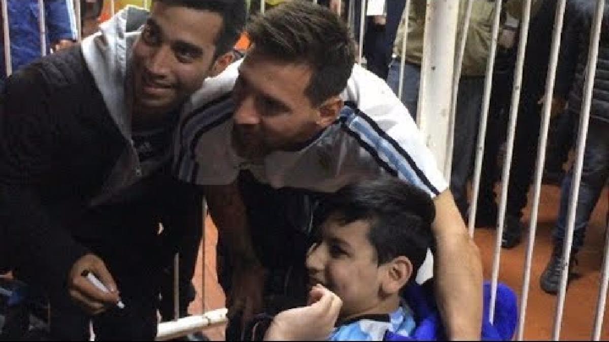 Messi y Mascherano tuvieron un lindo gesto con este menor.