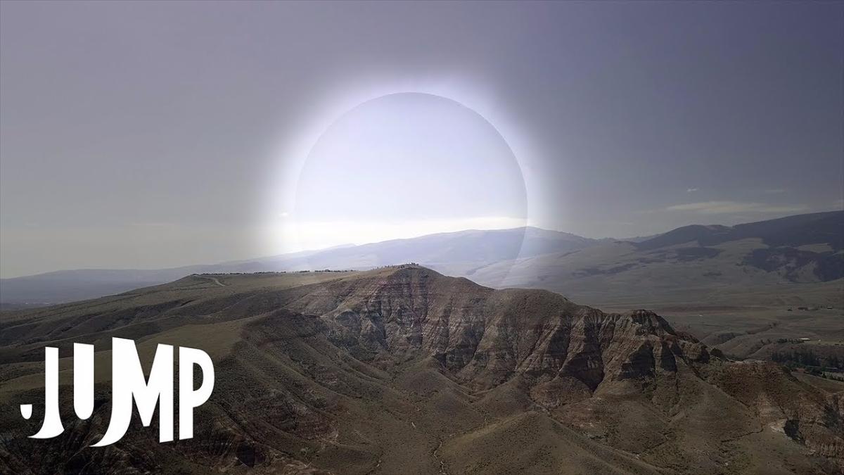 El antes y después del eclipse visto desde una cámara 360.