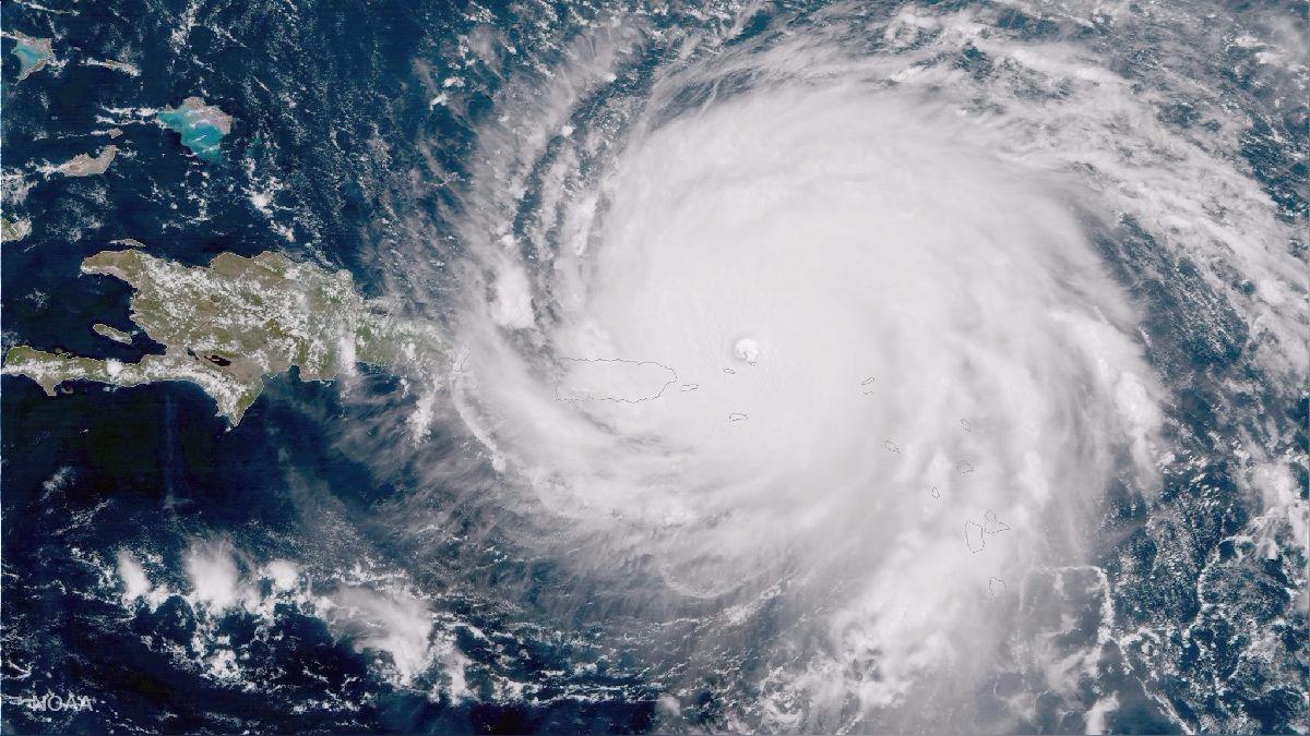 Foto del huracán Irma pasando por el Caribe tomada por el satélite GOES-16.