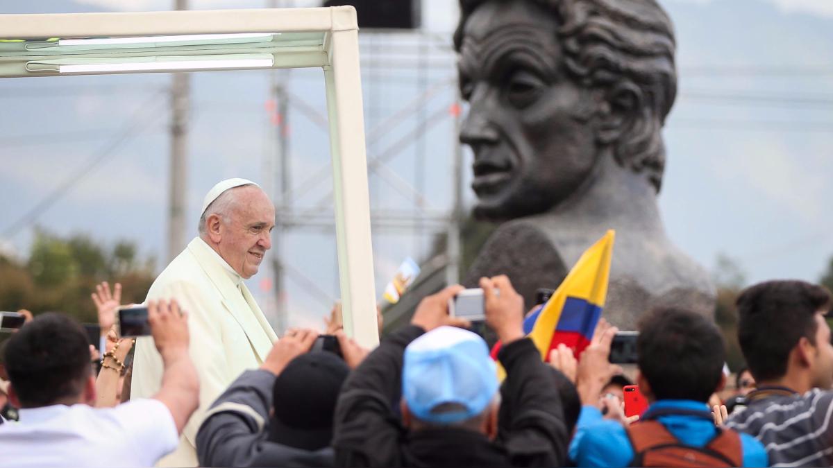 El jefe de la Iglesia Católica visitará Bogotá (6 y 7 de septiembre), Villavicencio (8 de septiembre), Cartagena (9 de septiembre) y Medellín (10 de septiembre).
