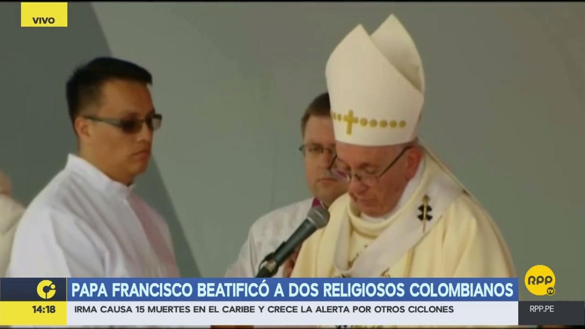 El papa estará en Colombia hasta el domingo.