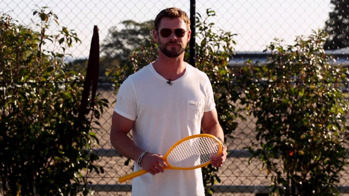 Chris Hemsworth grabó este divertido video.