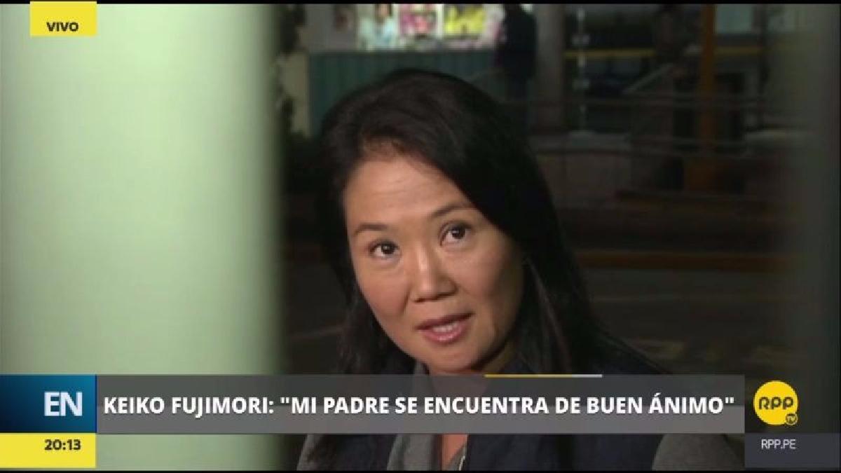 Fujimori Higuchi llegó hasta el distrito de Pueblo Libre esta noche para visitar a su padre.