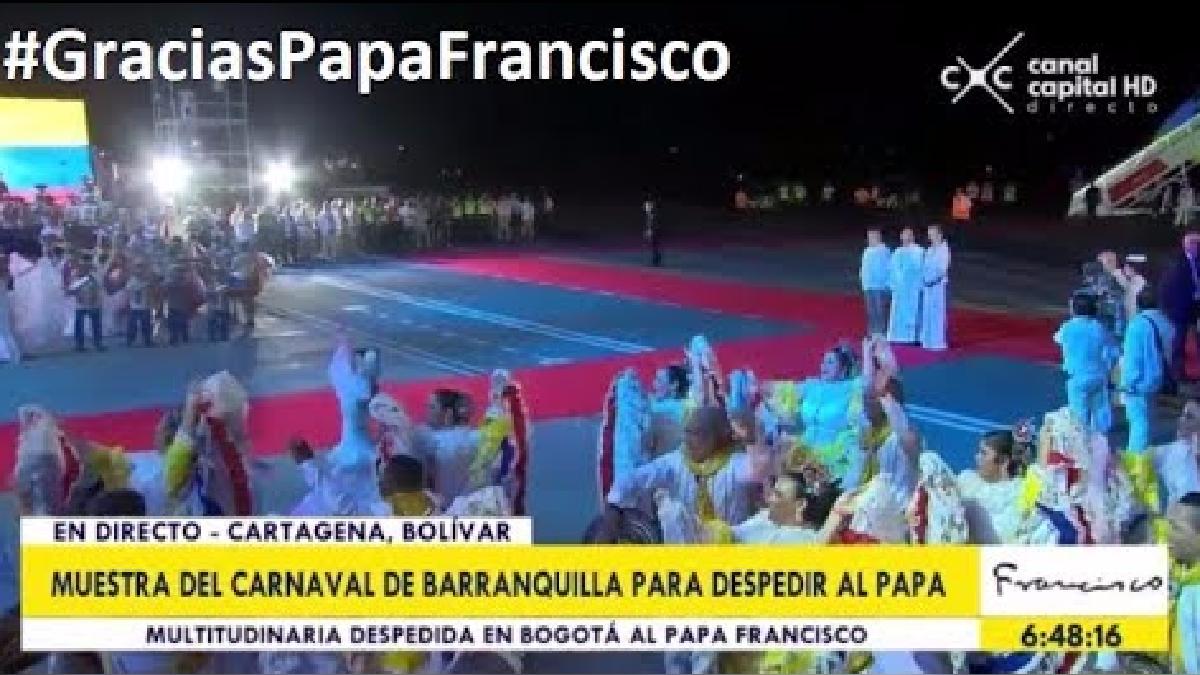Así fue la despedida del papa Francisco de Colombia.